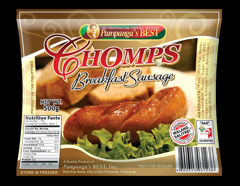 Chomps Breakfast Sausage 500G