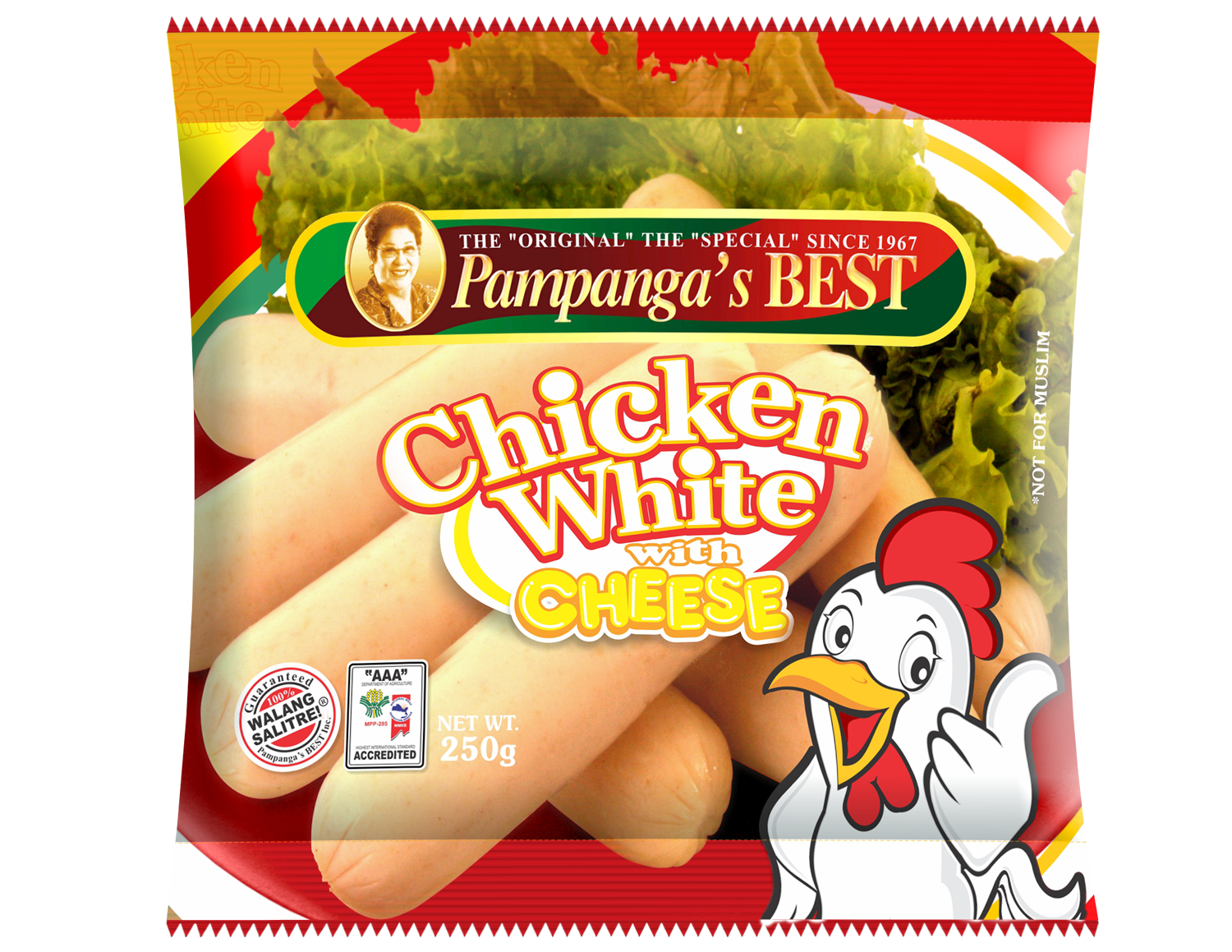 Chicken White With Cheese 250g