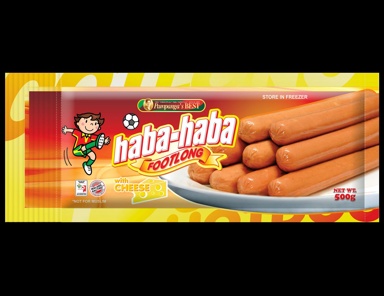 Haba Haba Footlong With Cheese 500G