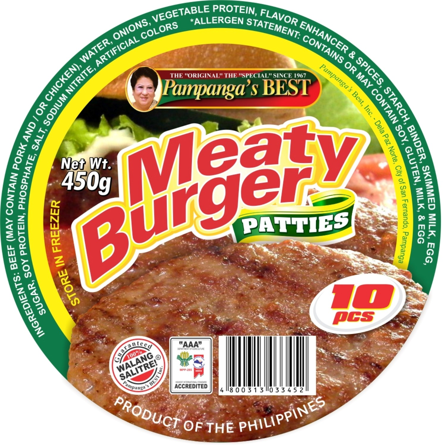 Meaty Burger - 10pcs