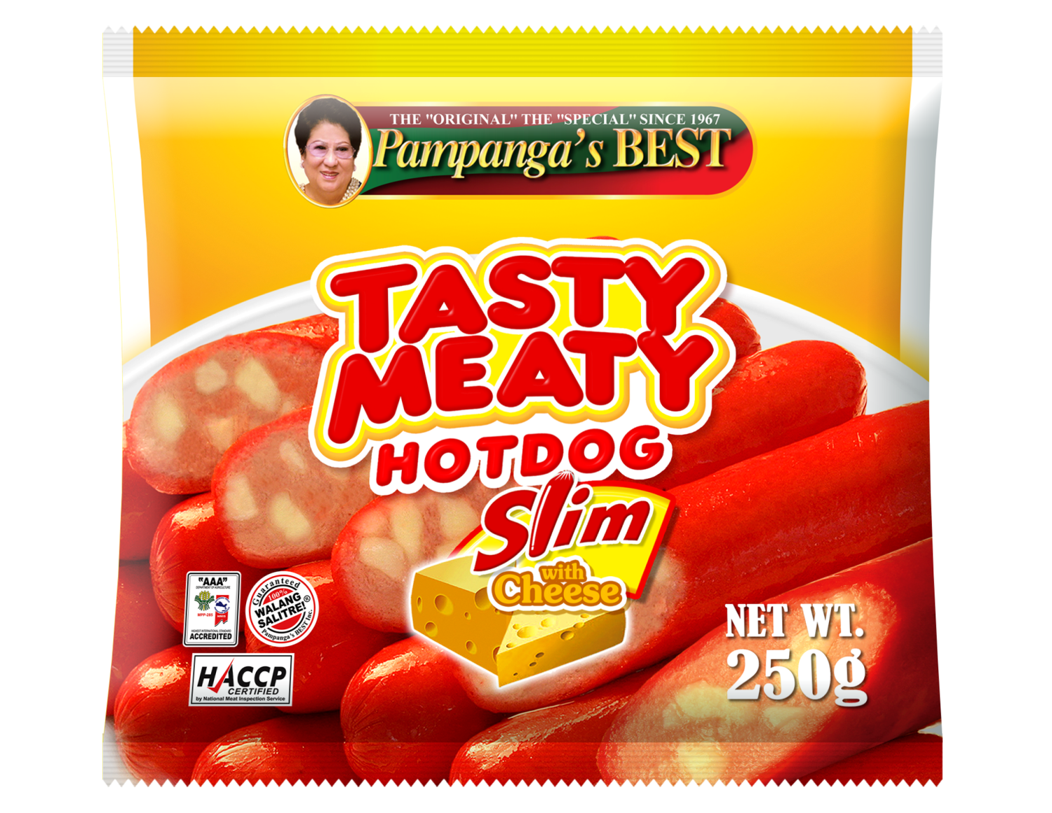 Tasty Meaty with Cheese Slim 250g